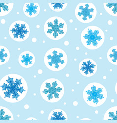 Holiday light blue bubbles with christmass vector