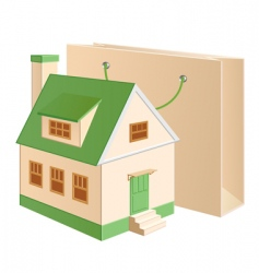 house shopping vector image vector image