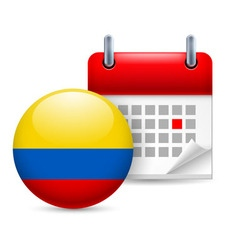 Icon of national day in colombia vector image vector image
