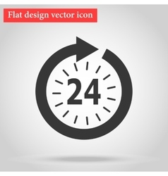 Icon watch timetable 24 hours vector