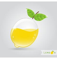 lemon fruit juice vector image