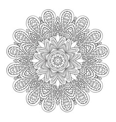 Mandala flower doodle ornament coloring vector