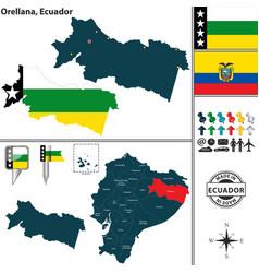 Map of orellana ecuador vector