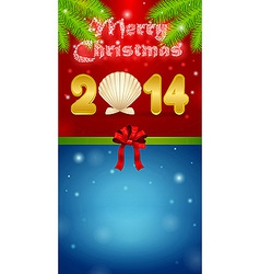 Merry Christmas 2014 gift vector image vector image