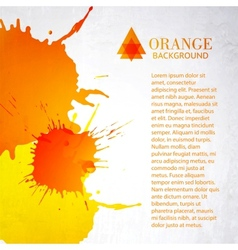 Orange background with splashes vector image