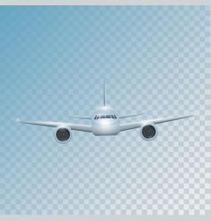 Realistic plane flies high vector