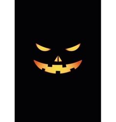 Scary face of halloween pumpkin vector image vector image