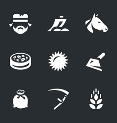 set of agriculture icons vector image vector image