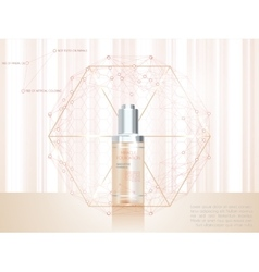 Skin serum toner template glass bottle vector image vector image