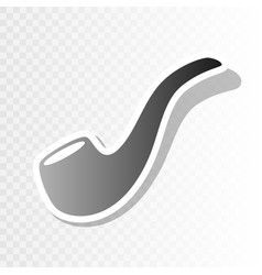 Smoke pipe sign new year blackish icon on vector