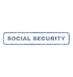 social security textile stamp vector image