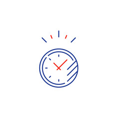 time limit concept fast delivery services linear vector image