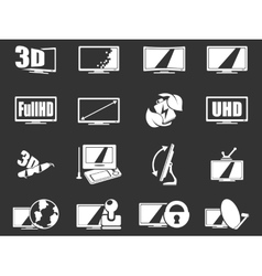 TV features and specifications vector image vector image