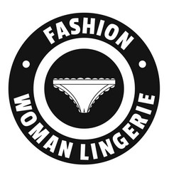 underpant woman logo simple black style vector image