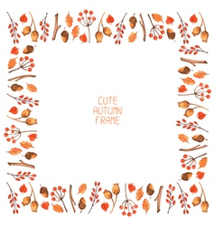 watercolor autumn frame vector image vector image