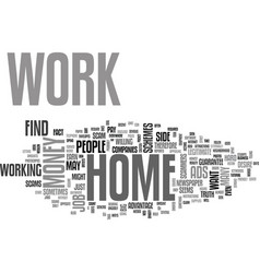 Work at hom text word cloud concept vector