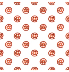 Sign e-mail pattern cartoon style vector