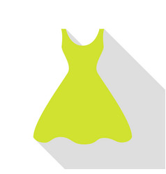 Woman dress sign pear icon with flat style shadow vector