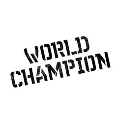 world champion rubber stamp vector image