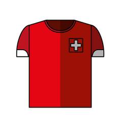 shirt uniform switzerland team vector image
