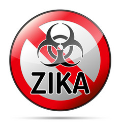 Zika virus biohazard danger sign with reflect and vector