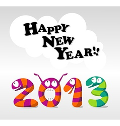 Cartoon happy new year 2013 vector