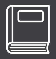 Book line icon education and school vector