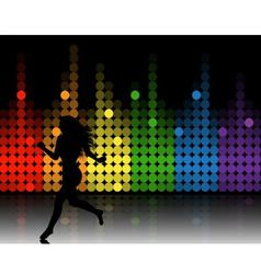 Music equalizer and running girl vector