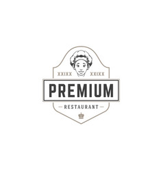 Restaurant logo template object for vector