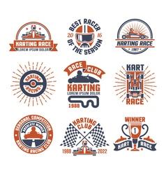 1609i105007Sm005c11karting motor race logo emblem vector image