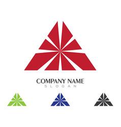 Pyramid logo template vector