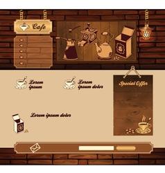 Coffee grunge retro web site vector