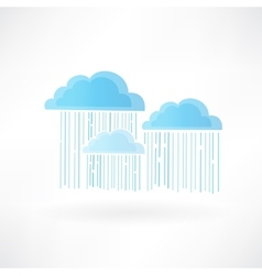 Clouds and rain vector