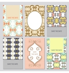 Set of card templates vector