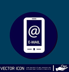 Smartphone with the symbol mail vector