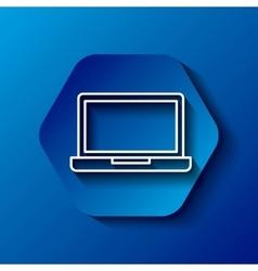 Laptop icon gadget design over hexagon vector