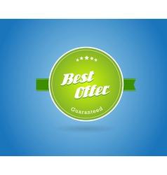 Green board with best offer sign vector