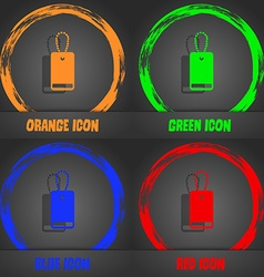 Army chains icon sign fashionable modern style in vector