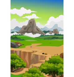 beauty mountain with landscape background vector image