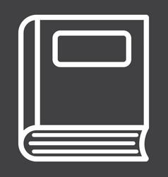 book line icon education and school vector image vector image
