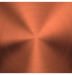 Bronze Metal Background with Circular Texture vector image