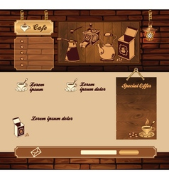 Coffee grunge retro web site vector image vector image