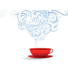 Coffee steam vector image vector image