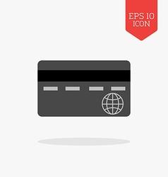 Credit card icon Flat design gray color symbol vector image vector image