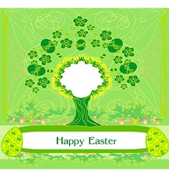 Easter tree frame vector
