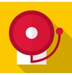Fire alarm icon flat style vector