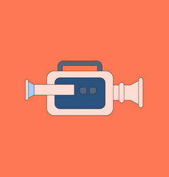 flat icon on background camcorder vector image vector image