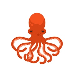 Flat style of octopus vector