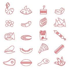 Food snacks silhouette vector