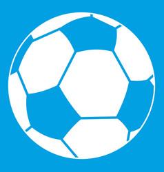 football ball icon white vector image vector image